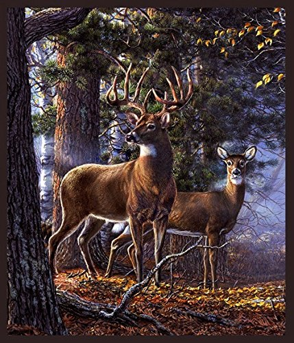 - White Tail Majesty Panel - One of a Kind Digital Print - 36