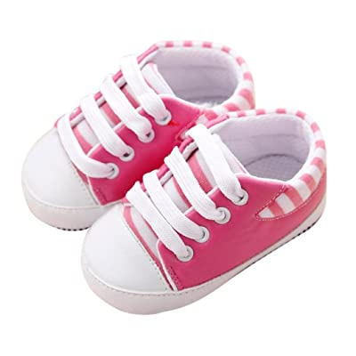 Auwer Newborn Infant Baby First Walkers Shoes Soft Sole Anti-slip Sneakers Bandage Prewalker Boots
