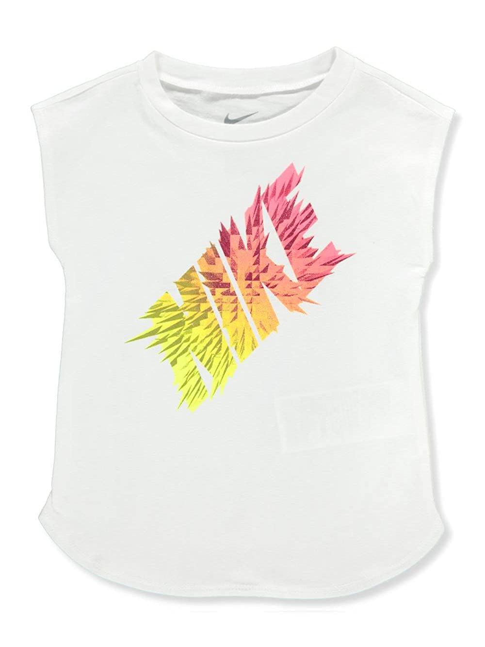 458133e2c Amazon.com: Nike Baby Girls' Sleeveless T-Shirt - White, 12 Months: Clothing