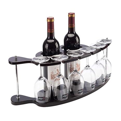Amazoncom Jiuqihome Grape Wood Wine Rack Wine Glass Rack Upside