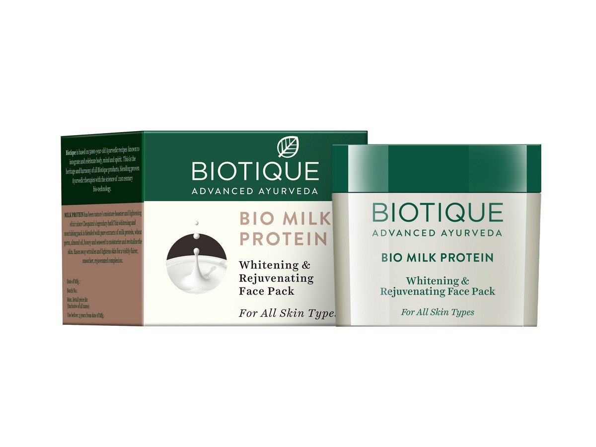 Biotique Whitening & Rejuvenating Face Pack - Milk Protein 60g RETMLLJ0014
