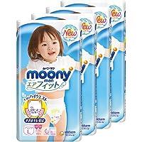 MamyPoko Moonyman Pants Diaper Girl, L, 44 Count, (Pack of 4)