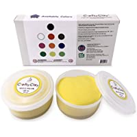Genova Art CraftyClay | Air Dry Modeling Art Clay for Professionals & Kids -2 Cups (Yellow) | Higher Grade Texture for…