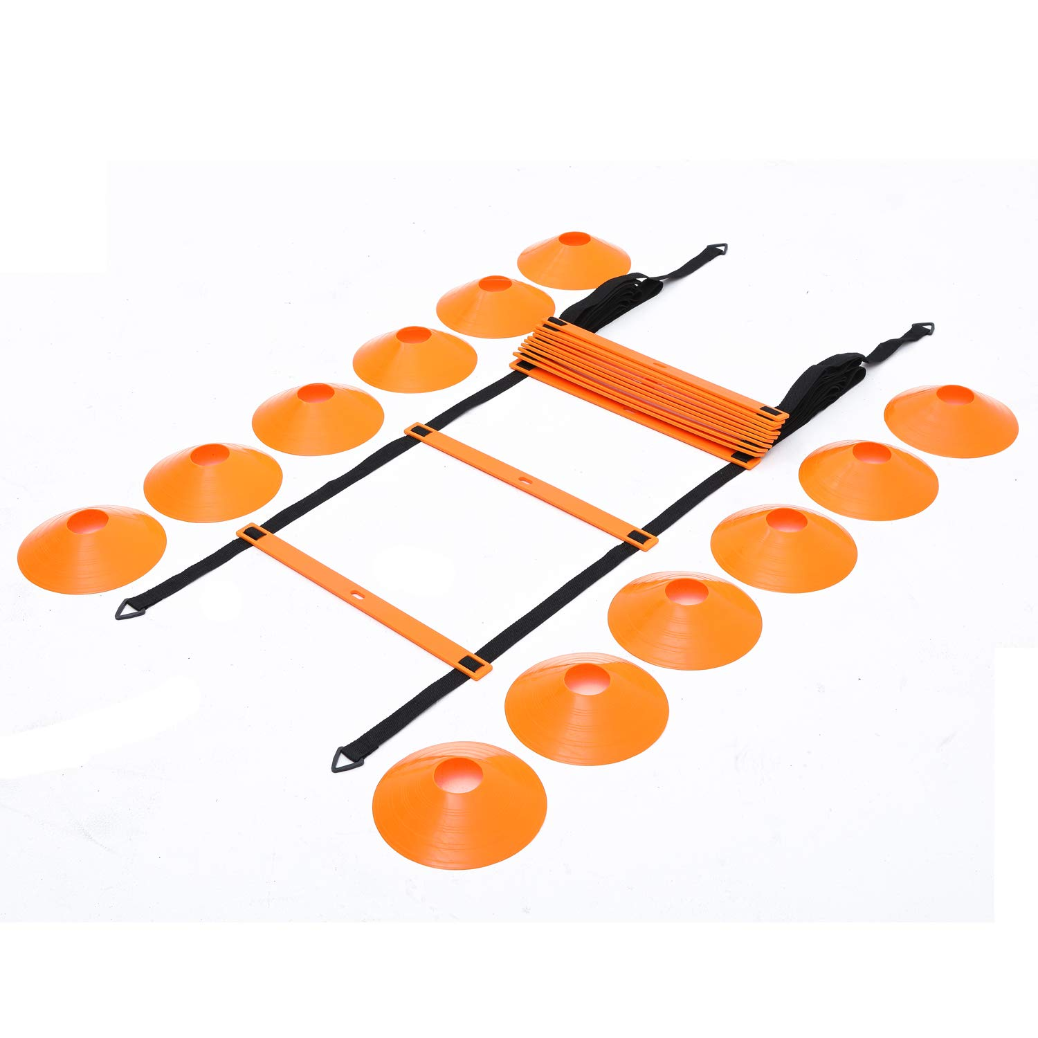 Outroad Hurdles Ladder Set of 12 Rung 12 Cones Sport Equipment