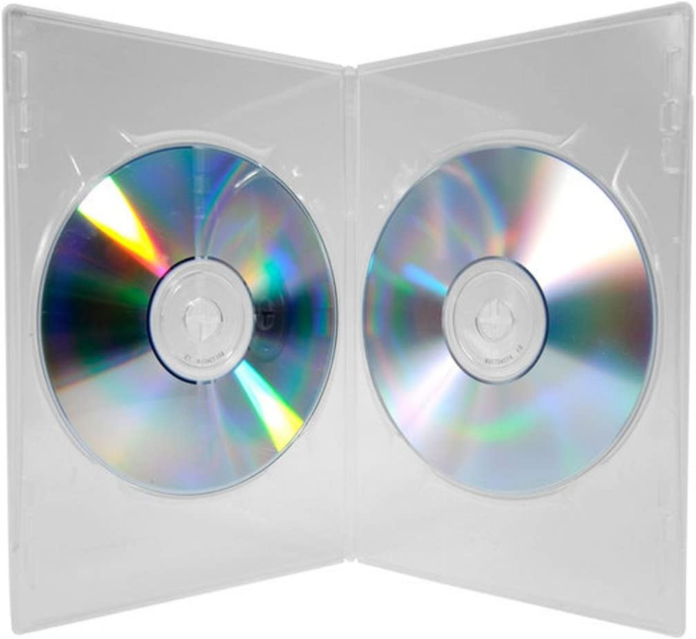 Four Square Media - Estuche para DVD (25 unidades, grosor doble, lomo de 7 mm, 25 unidades): Amazon.es: Informática