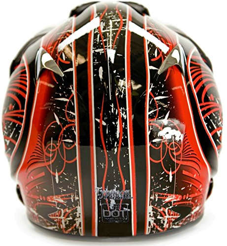 Adult Offroad Helmet Goggles Gloves Gear Combo Red Splatter (Large)