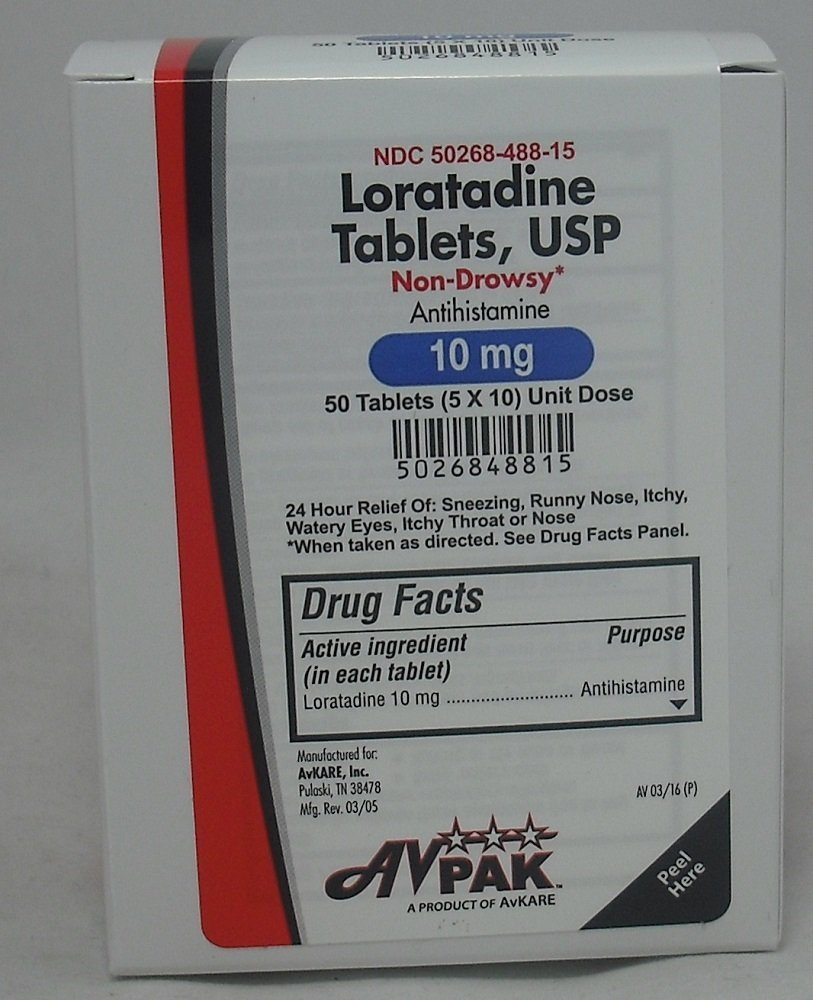 Loratadine Tablets, Non- Drowsy, 50 Count (6 Pack) by Avpak