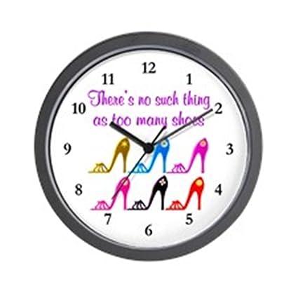"""Unique Decorative 10/"""" Wall Clock CafePress High Heel Shoe"""