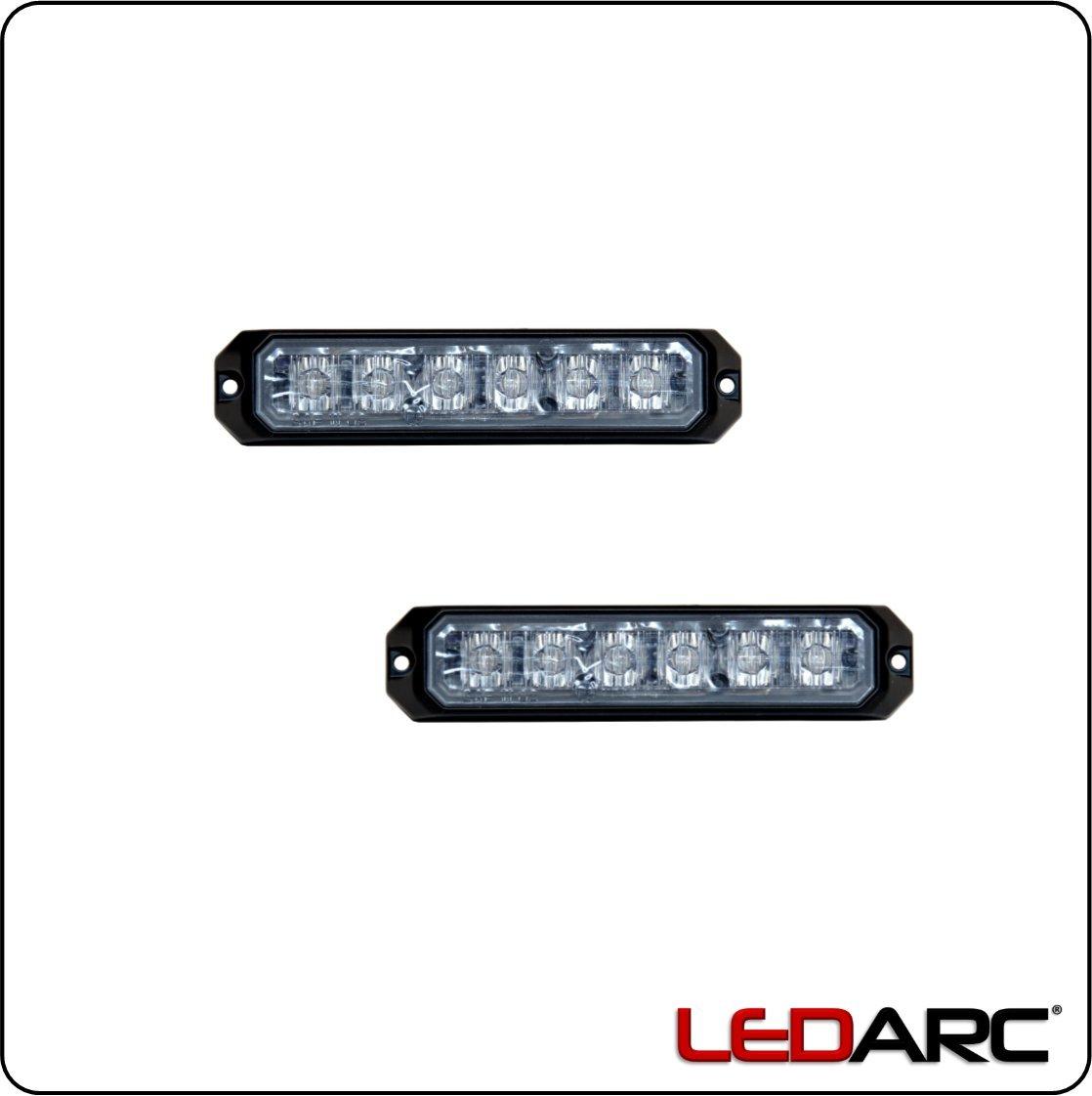 Frontwarner Stra/ßenr/äumer Axixtech MS6 LED Frontblitzer Set blau ECE-R65 Frontwarnsystem