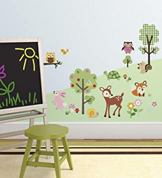 Woodland Animals Baby/Nursery Wall Sticker Decals For Boys And Girls Part 48