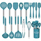 15 Pcs Silicone Cooking Utensils Kitchen Utensil Set - Umite Chef 446°F Heat Resistant,Turner Tongs,Spatula,Spoon,Brush…
