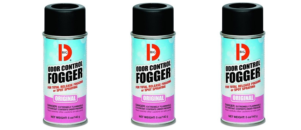 Big D 341 Odor Control Fogger, Original Fragrance, 5 oz (Pack of 12) - Kills odors from fire, flood, decomposition, skunk, cigarettes, musty smells - Ideal for use in cars, property manageme (3 PACK)