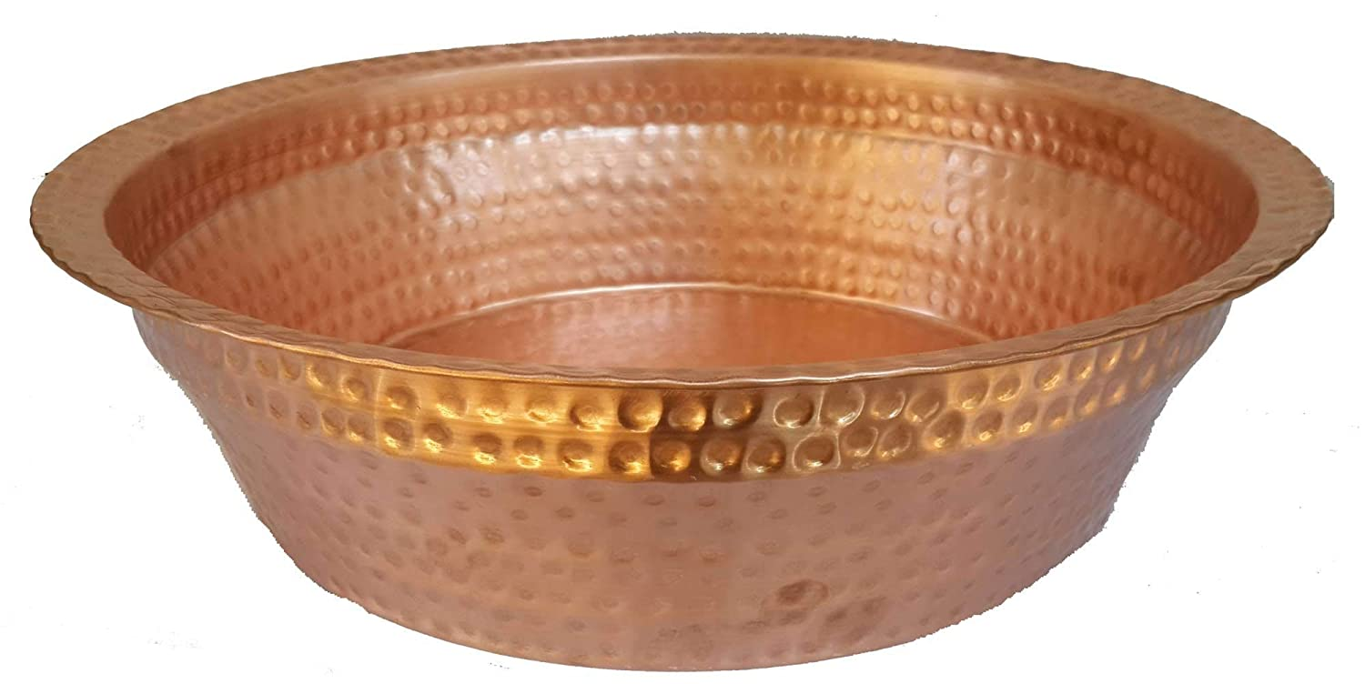 Amazon Com Gold Copper Foot Water Soaking Wash Therapy Spa Beauty Salon Massage Relaxation Health Care Pedicure Bowl Handmade