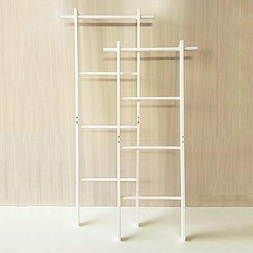 AYHa Perchero de piso de pared Escalera de esquina Sombrero y perchero Toallero de madera maciza, 2 colores, 2 tamaños opcionales,Blanco,47.5 * 140cm: Amazon.es: Bricolaje y herramientas
