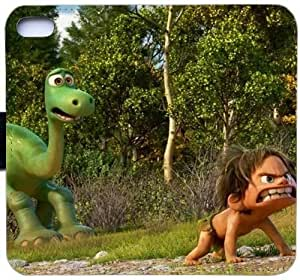 Generic Fashion Case Cover Fit for iPhone 6 6S 4.7 inch The Good Dinosaur Leather Flip Cover Wallet Phone Case and Credit Card Slot With Magnetic Hasp PKL-6035624