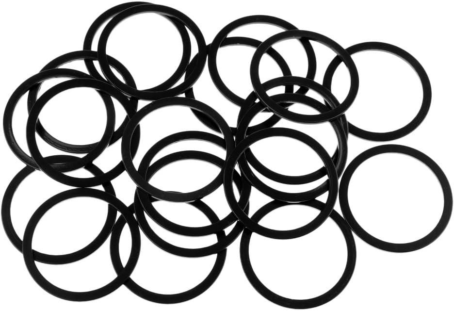 Homyl 20 Pcs V/élo Pignon Entretoise Rondelle Volant Rondelle 1.5mm 2mm 3mm Moyeux Noir