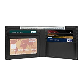 Cartera para Hombre RFID Billetera Billetero Delgado de Cuero Cartera de Hombre Pequeño 8 Tarjeta: Amazon.es: Equipaje