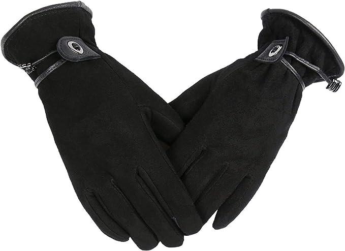 Winter Lederhandschuhe Reithandschuhe Fahrradhandschuhe OZERO Touchscreen Damen Winterhandschuhe