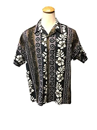 4c9a80f9 Hwy One Big and Tall Hawaiian Shirt In Brown and Purple Pineapple Design  Made In USA
