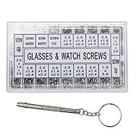 Domeilleur 1000PCS Tiny Viti Dado cacciavite Kit di Riparazione Strumento per monocolo Occhiali Orologi