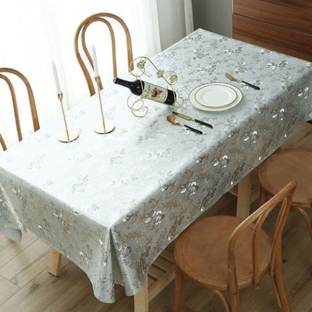 WJJYTX tischdecke Plastik, Modern/Protector Textile Backing Runde rechteckige Tischdecke Heißprägen @ 90 * 90