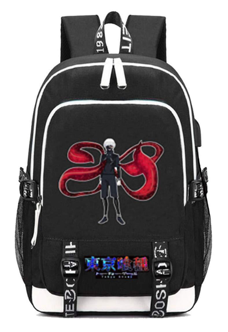 Tokyo Ghoul  9 Cosstars Tokyo Ghoul Anime Rucksack Schoolbag Laptop Backpack with USB Charging Port and Headphone Jack  5