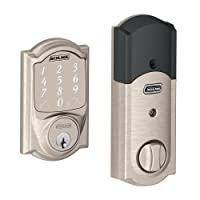 Deals on Schlage Sense Smart Deadbolt with Camelot Trim Satin Nickel
