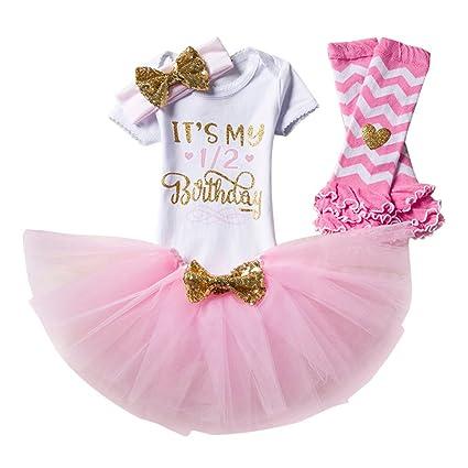 9f3c931962e20 4pcs Nouveau-né Bébé Enfants Bambin Filles élégant Bowknot Robes Tutu Jupe  Barboteuse Tenue de