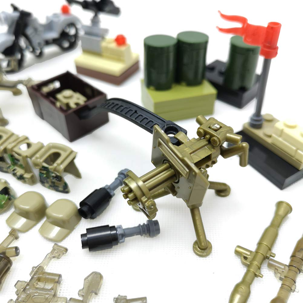 Military Army Weapons Hats Weapon Pack Accessories Set Compatible Major Brands ,Accessories Modern Assault Pack Military Building Blocks Toy Weapons Tools