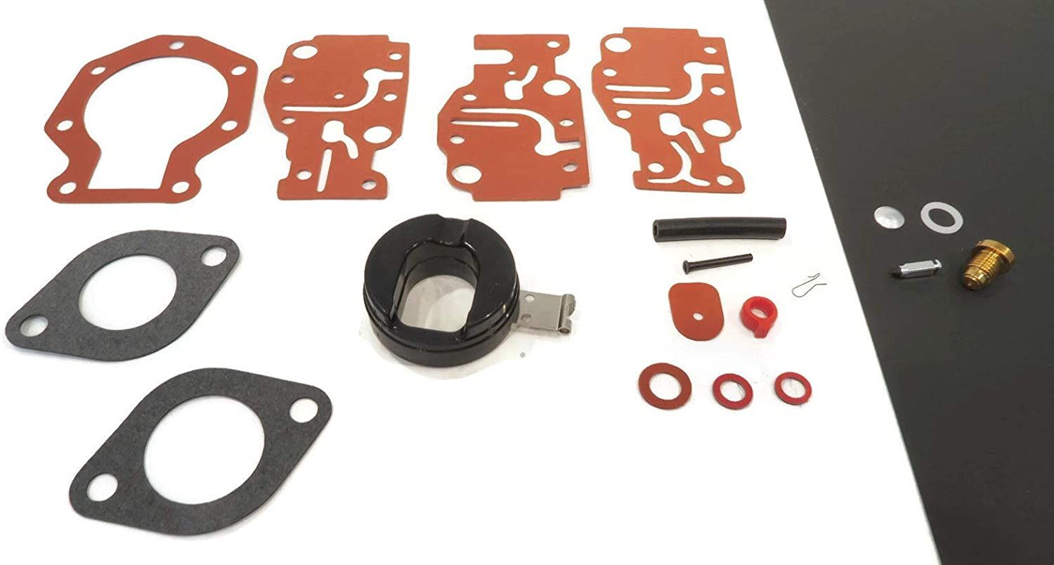 The ROP Shop | Carburetor Repair Kit for 2004 Johnson 10HP, BJ10RHLSRC, 8HP, J8RSRC¸ J8RLSRC