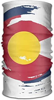 TEPEED Unisex Stylish Colorado Flag Tornado Quick Dry Microfiber Headwear Outdoor Magic Bandana Neck Gaiter Head Wrap Headband Scarf Face Mask Ultra Soft Elastic Handscarf