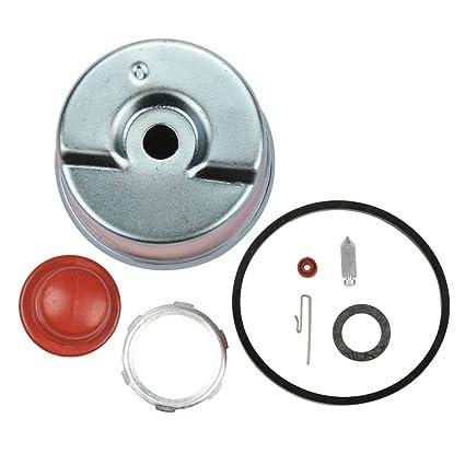 Panari Carburetor Float Bowl + Needle Seat Kit + Primer Bulb for Tecumseh  631867 631021B 631021A 631021 36045A