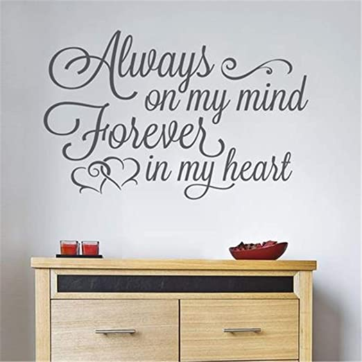 KITCHEN IS THE HEART Vinyl Wall Decal Home Decor Lettering Words Quote 24/""
