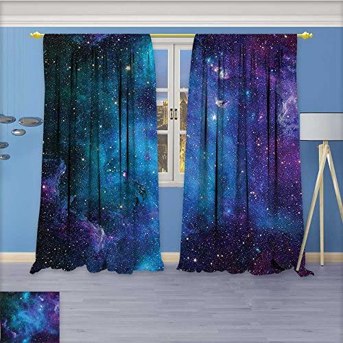 Blackout Burgundy Curtains Nebula Star