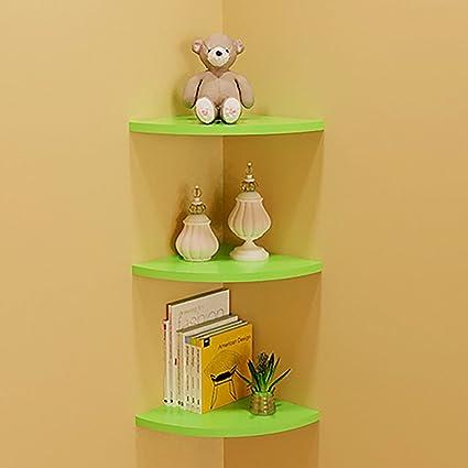 Amazon.com: THEE Floating Corner Shelf Decorative Wall Storage ...
