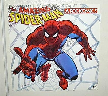 Vintage Original 1972 Marvel Spider Man Buddah Records Rockomic Lp Album POSTERJohn Romita
