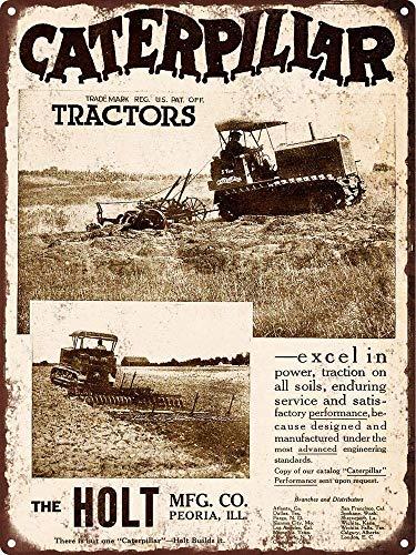 TGDB 1920 Caterpillar Tractor Crawler Man Cave Wall Art Metal Sign Size 8x12 inch
