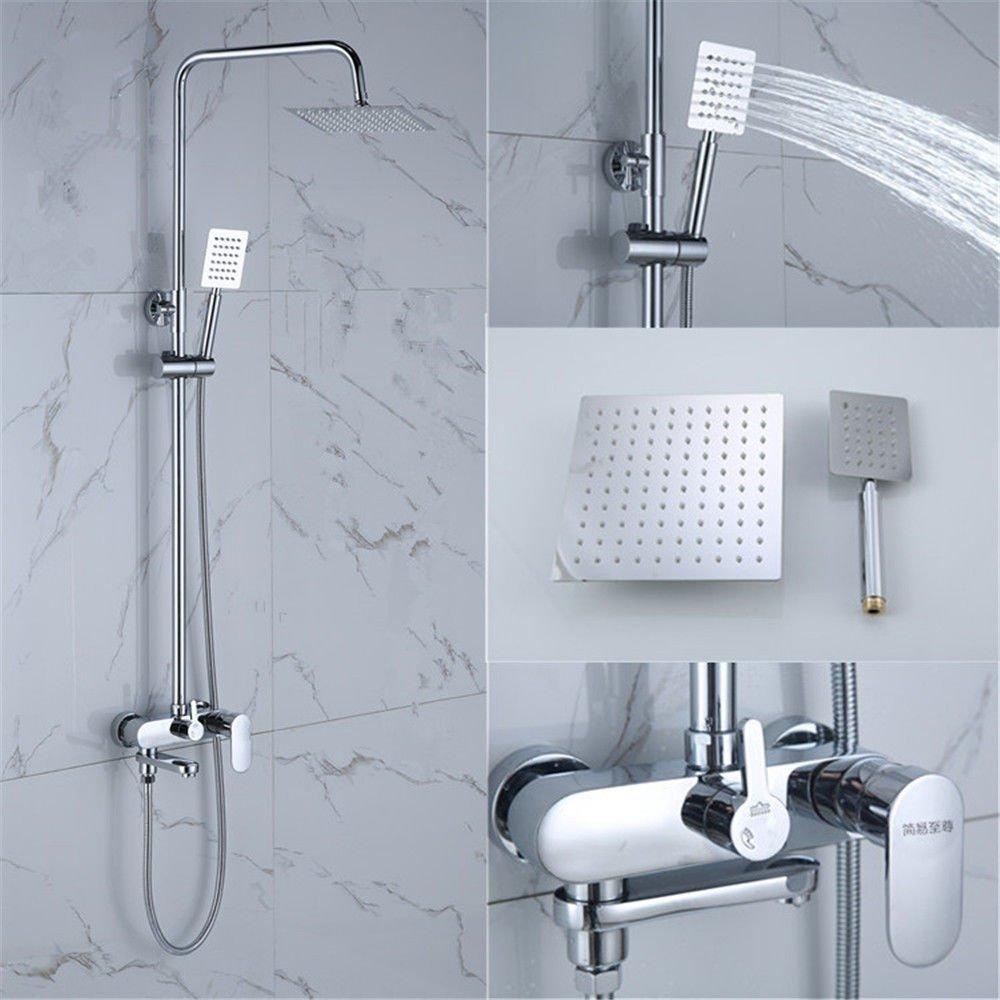 AQMMi Bathroom Sink Mixer Tap Brass Pressurization Shower Set Single Lever Taps for Bathroom Sink