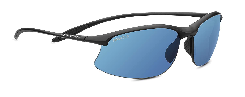 a9f9fbcc8e Amazon.com  Serengeti Sport Nylon Maestrale Satin Black Phd Polarized 555nm  Blue Sunglasses  Serengeti  Sports   Outdoors