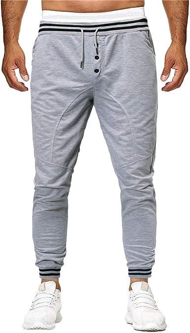 VPASS Pantalones Hombre, Chándal de Hombres Cintura Ajustable por ...