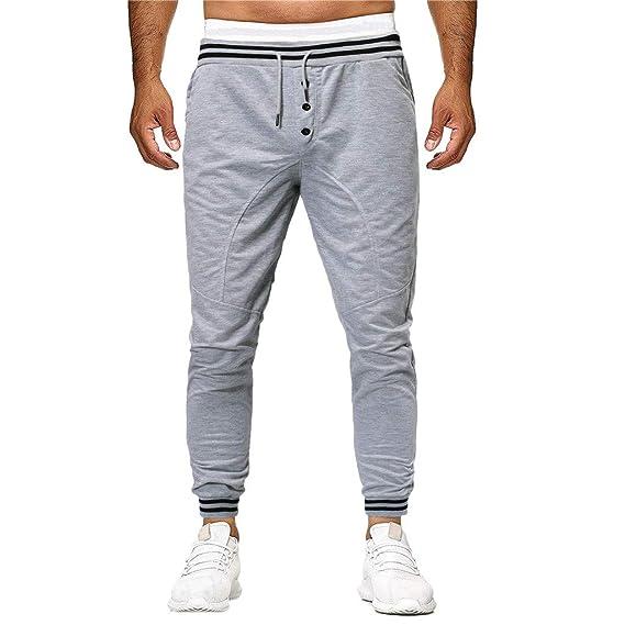 Btruely Hombre Pantalones de chándal Pantalones de cordón Pantalón ...