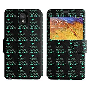Be-Star Colorful Printed Design Slim PU Leather View Window Stand Flip Cover Case For Samsung Galaxy Note 3 III / N9000 / N9005 ( Anime Mangas ) Kimberly Kurzendoerfer