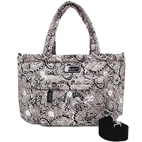 Jacobs Marc Quilted Satchel (Marc by Marc Jacobs Crosby Nylon Quilted Diaper Bag (Grey Floral))