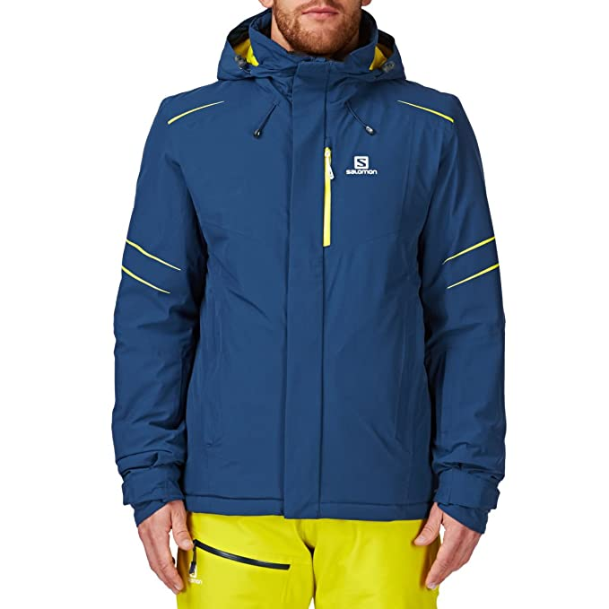 b6264250a3d0 Salomon Icestorm Jacket M Snow Jacket - Midnight Blue  Amazon.ca  Clothing    Accessories