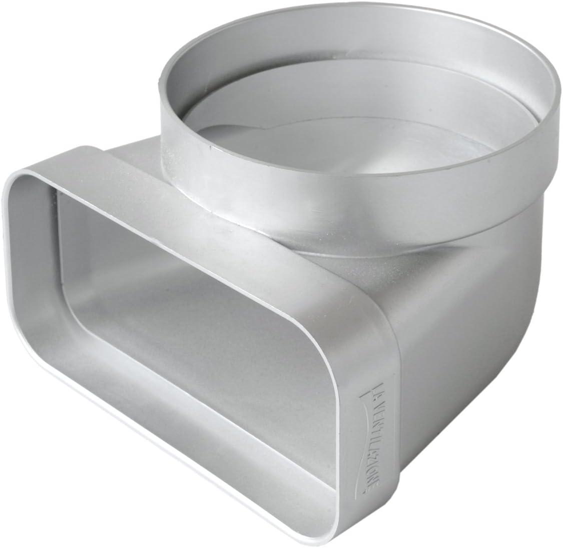 La ventilación cgv157ac-y curva vertical de ABS para ventilación canalizzata, cromado satinado, 125Mm-150X 70Mm