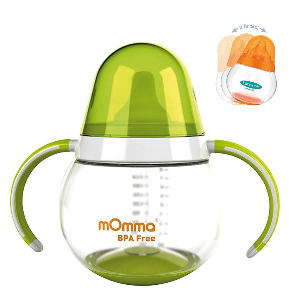 Mega-Set Lansinoh PP Flaschen Set mit NaturalWave Sauger /& Lansinoh mOmma Lernset Warmhalteteller L/öffel /& Gabel////mOmma Trinklernbecher Steh-auf-Funktion