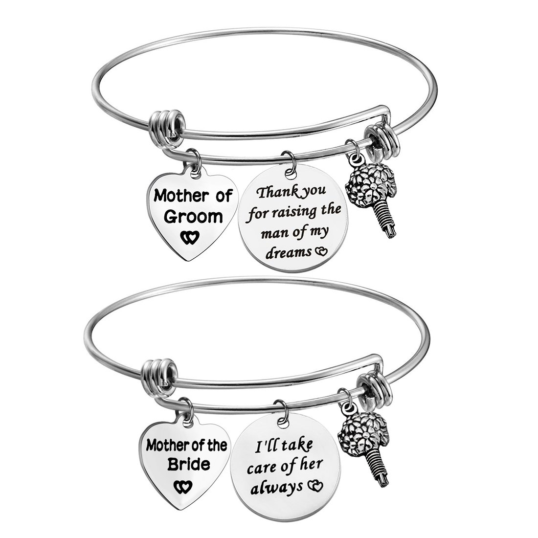 Zuo Bao Mother of the Bride or Groom Adjustable Bangle Wedding Gifts Mothers gifts Bangle bouquet (Bangle set)
