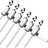 Barbecue Skewers Stainless Steel Brazilian BBQ Kabob Kebob Shish Sticks, Anti-scald Grill Tool,14.7 inch,Set of 6