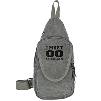 50%OFF I Must Go My Gym Needs Me Fashion Men's Bosom Bag Cross Body New Style Men Canvas Chest Bags
