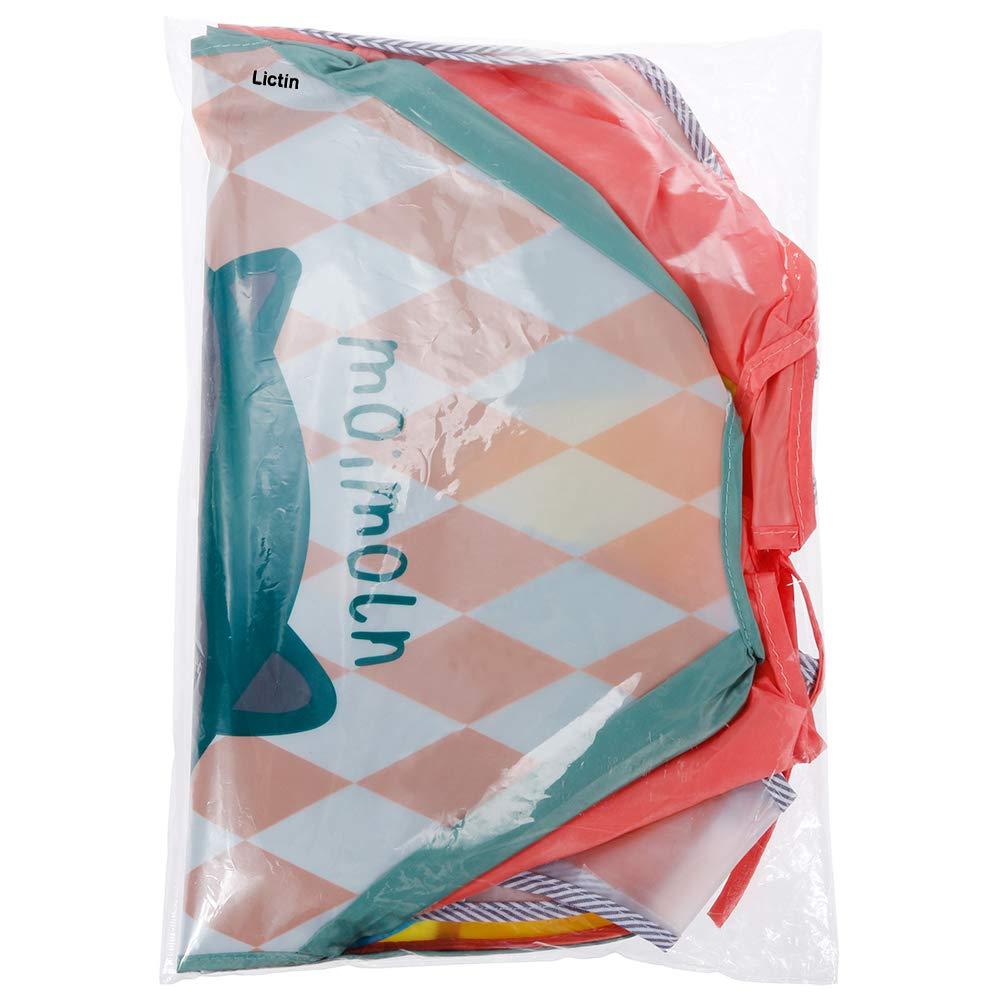 Lictin 6Pcs Baberos con mangas Conjunto de babero EVA impermeable babero de manga larga de beb/é unisex para ni/ño peque/ño de 6 meses a 3 a/ños de edad